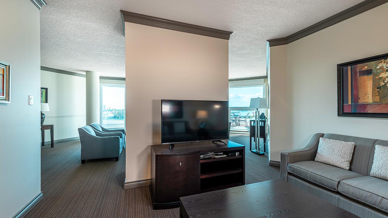 Living Room - Suite 800 at Victoria Regent Hotel
