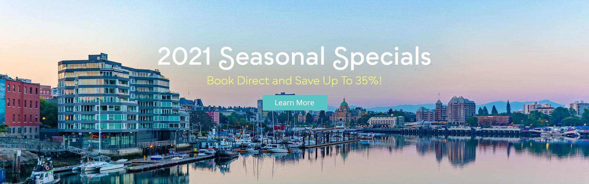 2021 Seasonal Specials at the Victoria Regent Hotel